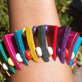 multi glass bead shopping stretch shop special colored dzdjewelry chunky new etsy bracelet colorful small stackable